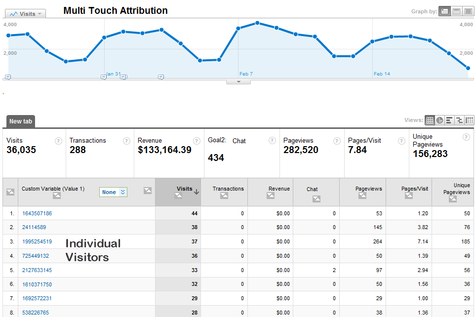 Individual Users in Google Analytics