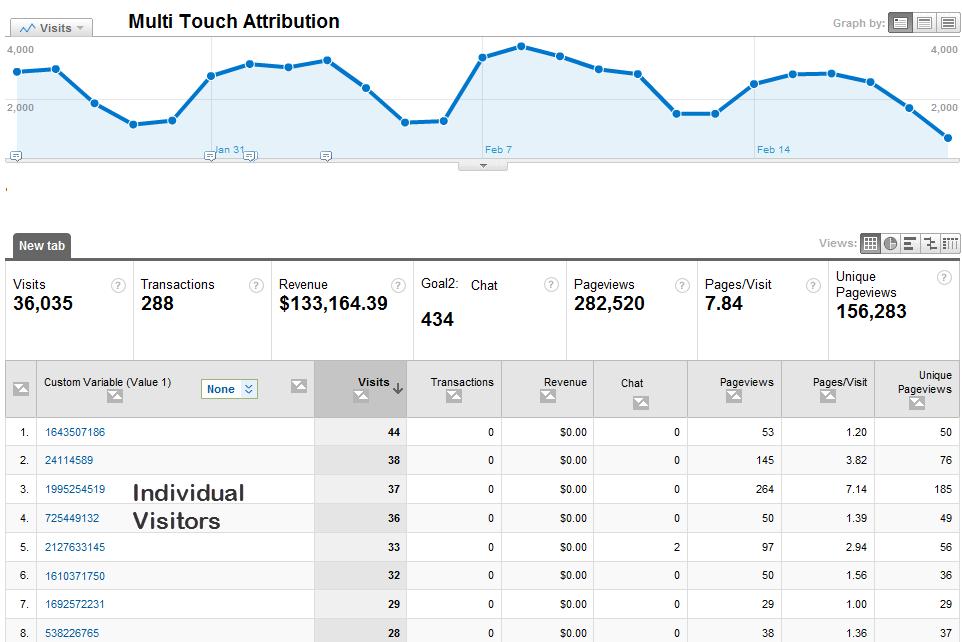 Individual Users in Google Analytics