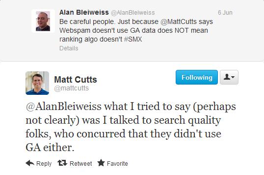 Matt Cutts Google Analytics