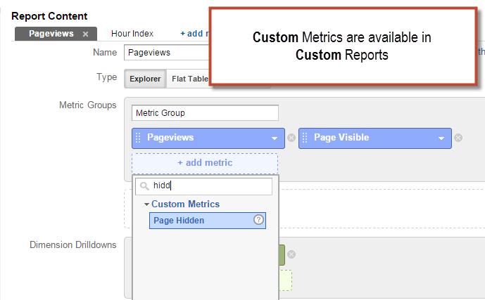 custom metrics reports