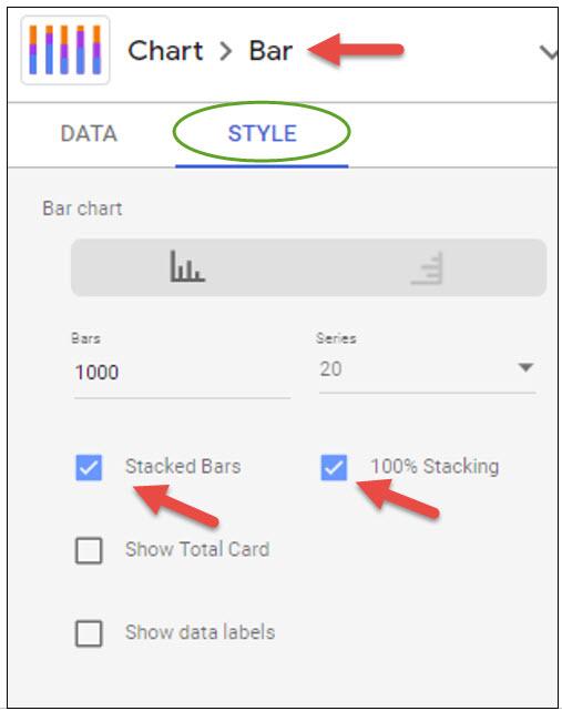 chart bar settings