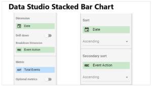 data studio chart settings