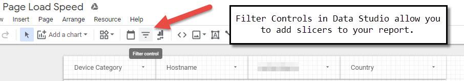 data studio slicers